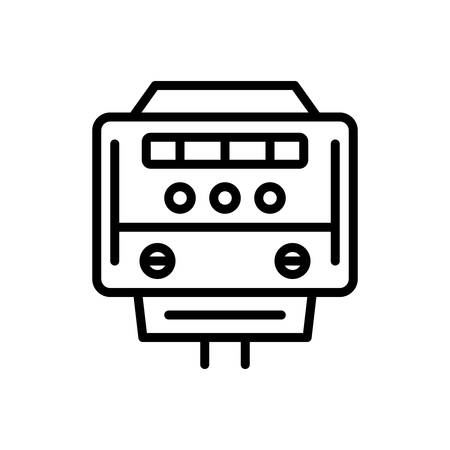 Icon for electric meter, meter