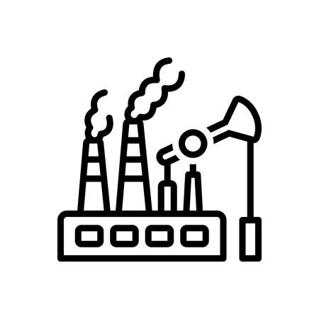 Icon for fossil fuels, fuel Stock Illustratie