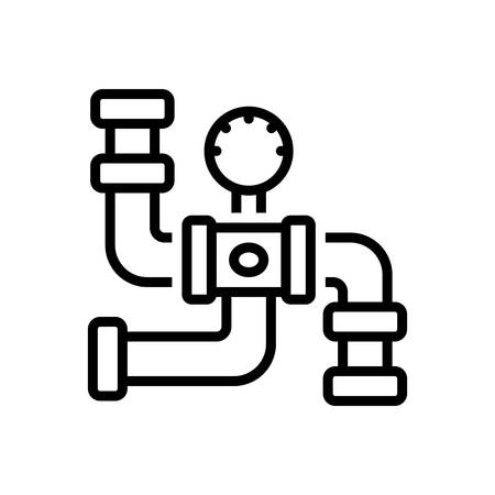 Icon for gas pipeline,connector Stock Illustratie
