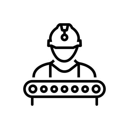 Icon for industry worker, construction