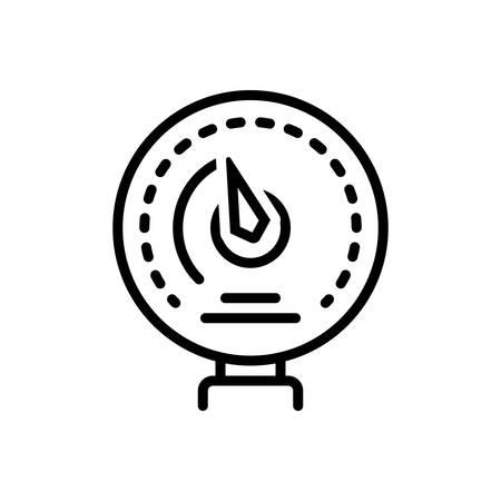 Icon for manometer ,ammeter Illustration