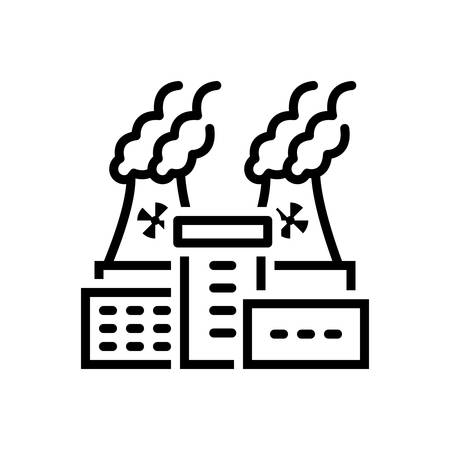 Icon for nuclear plant, power Ilustrace