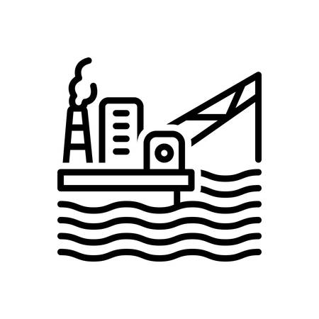 Icon for oil platform, offshore