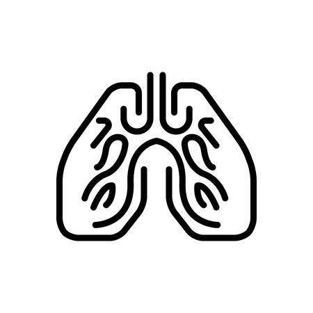 Icon for lungs,breath