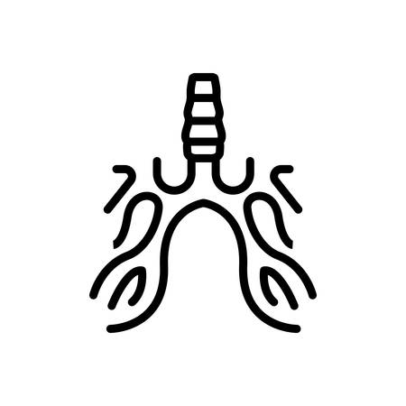 Icon for bronchus,breath Stock Illustratie