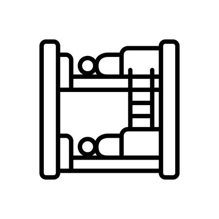 Icon for hostel,dormitory 向量圖像