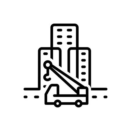 Icon for prefab,architectural Banque d'images - 130485626