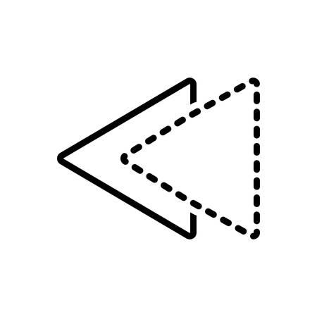 Icon for previously,already Vektorové ilustrace