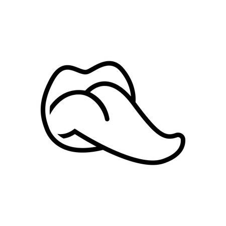 Symbol für Zunge, Mund Vektorgrafik