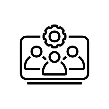 Icon for team working,workforce