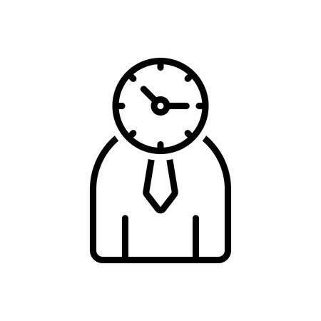 Icon for time management,management Ilustrace
