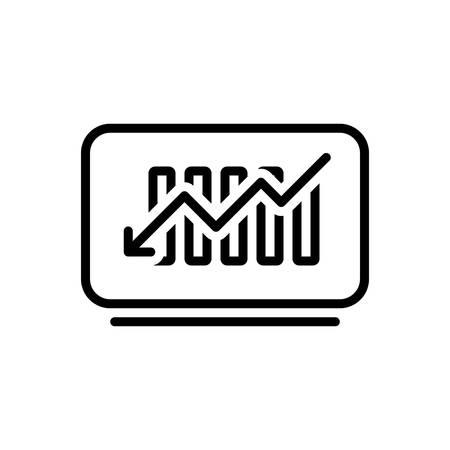 Icon for decline,reduce Illusztráció