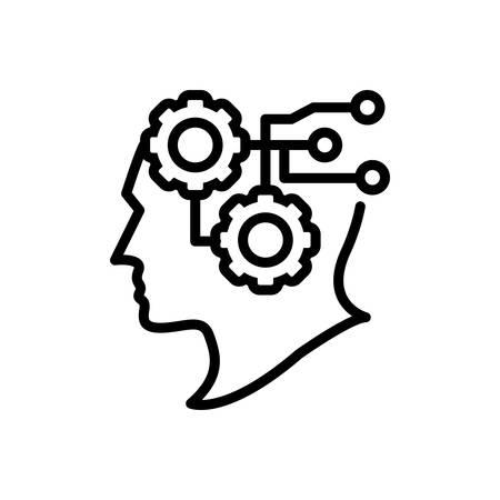 Icon for intelligence,intellect Çizim