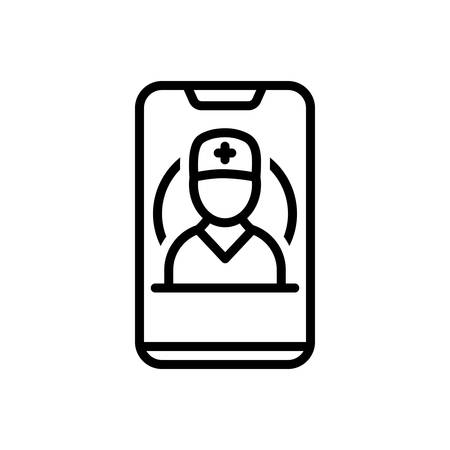 Icon for mobile healthcare,mobile Banque d'images - 130626494