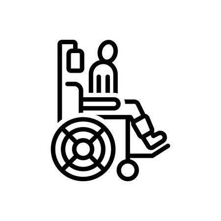 Icon for patient,wheelchair Stock Illustratie