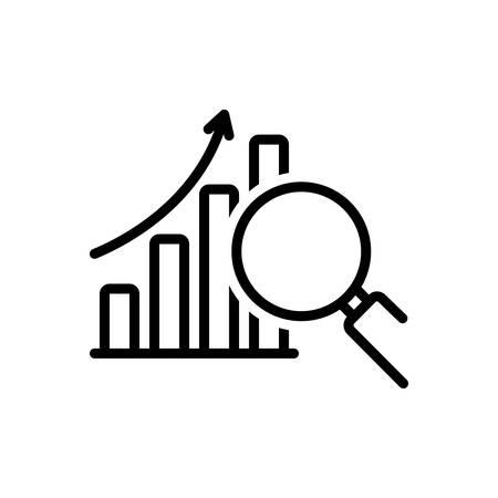Icon for data analysis symbol,analysis Illustration