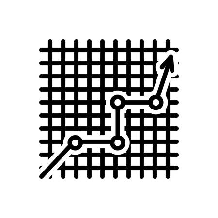 Icon for line graphic on checkered,data