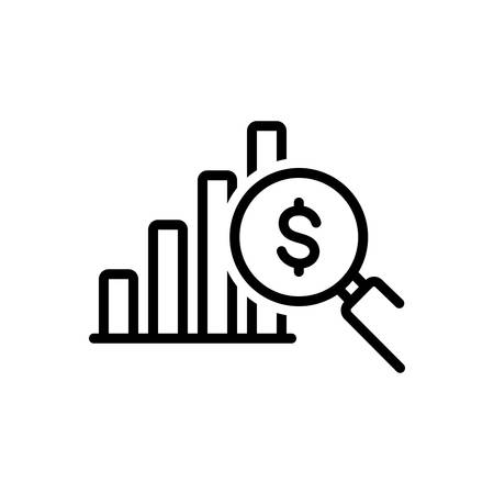 Icon for profit analysis,investor,data Ilustracja