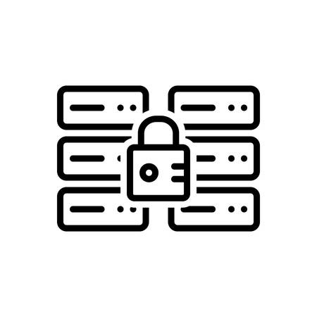 Icon for secure database,password