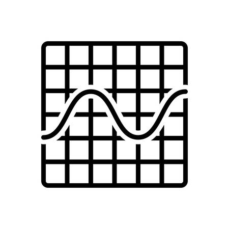 Icon for sine wave graphic,frequency