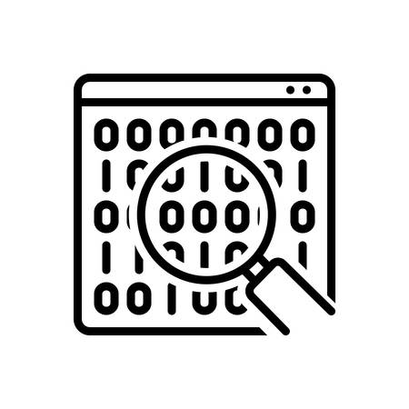 Icon for binary data search symbol,analytics,coding 向量圖像