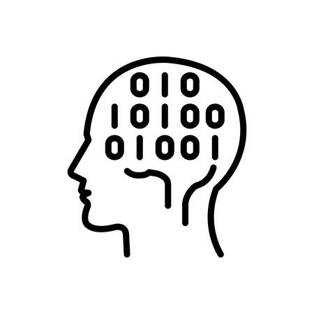 Icon for binary mind,hardware,chip 向量圖像