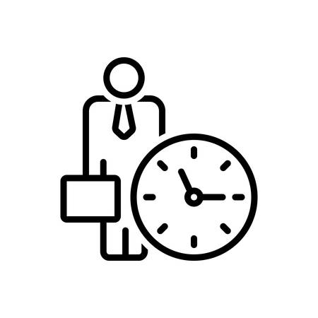 Icon for office clock,around the clock,time is running  イラスト・ベクター素材