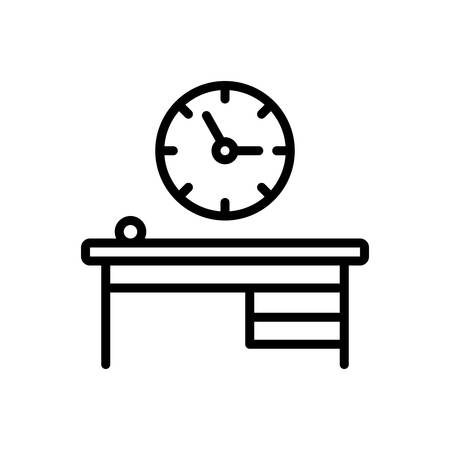 Icon for office clock,time is running,reminder,schedule  イラスト・ベクター素材