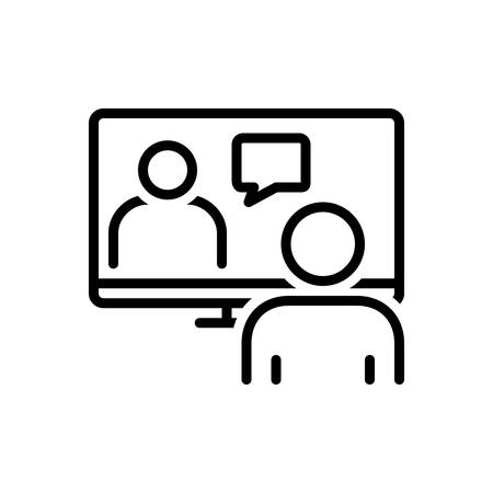 Icon for online conference,meeting room