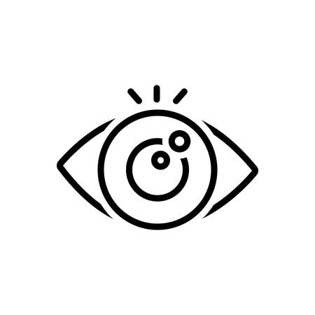 Icon for eye looking,vision Stok Fotoğraf - 130626801