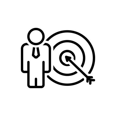 Icon for goals achieve,target 向量圖像