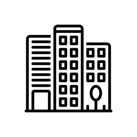 Icon for office building,building 向量圖像