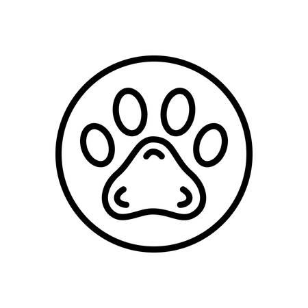 Icon for pawprint,veterinarian Illustration