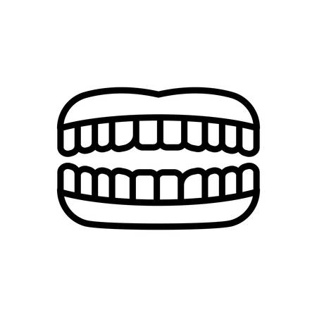 Icon for teeth,tooth 向量圖像