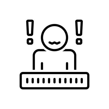 Icon for anxiety,headache Иллюстрация