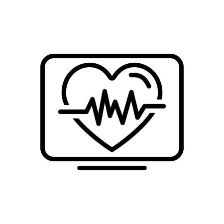 Icon for heartbeat,life  イラスト・ベクター素材