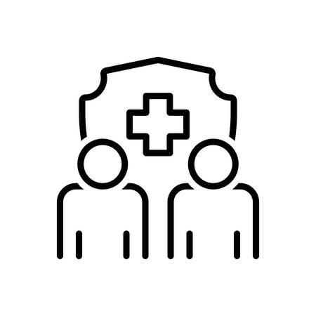 Icon for life insurance,family