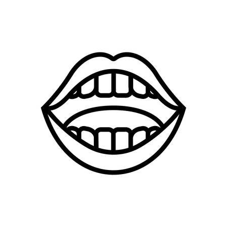 Icon for mouth,face Stock Illustratie