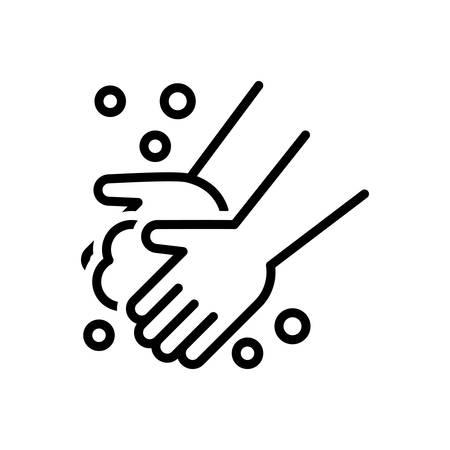 Pictogram voor het wassen van de hand, wassen