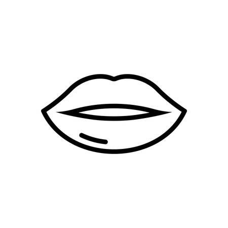 Icon for lips,kissing Ilustrace