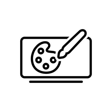 Icon for digital art,digital Иллюстрация