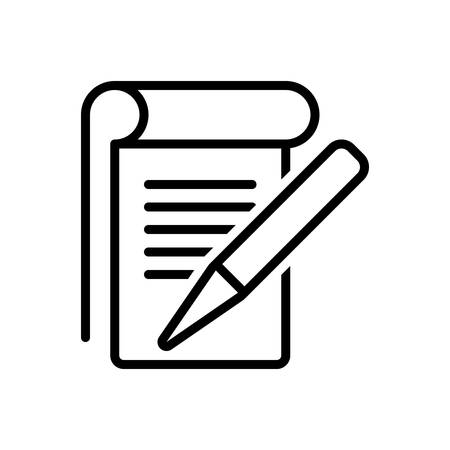 Icon for student notes,editorial,notes