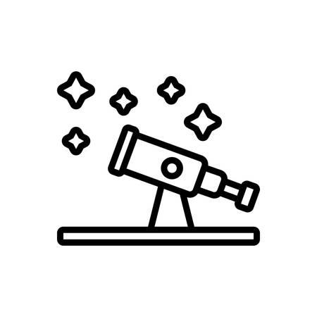 Icon for astronomy,telescope Stock Illustratie