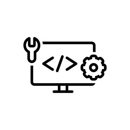 Icon for web develop, coding
