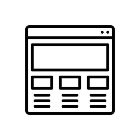 Icon for website sketching ,making Ilustração