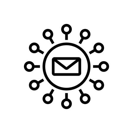 Icon for email marketing ,marketing