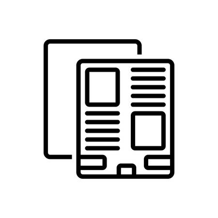 Icon for leaflet promo ,template