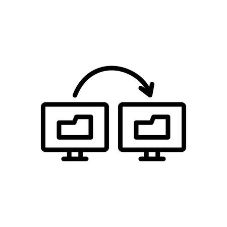 Icon for sync of data information,transfer