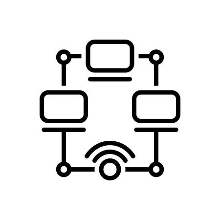 Icon for networking,multicast