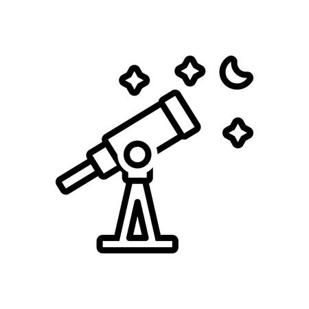 Icon for telescope,astronomy